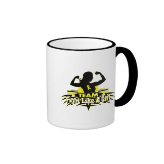 Lucha como un chica - cáncer del equipo de vejiga taza de café