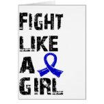 Lucha como un chica CFS 21,8 Felicitación