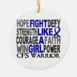 Lucha como un chica CFS 23,4 Ornamento Para Arbol De Navidad