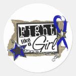 Lucha como un chica CFS 24,8 Pegatinas Redondas