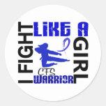 Lucha como un chica CFS 3,2 Pegatina