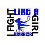 Lucha como un chica CFS 3,2 Tarjeta Postal