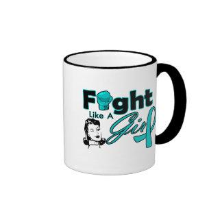 Lucha como un chica - chica retro de PKD Taza De Café