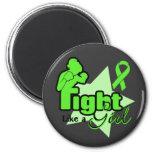 Lucha como un chica - enfermedad de Lyme Iman Para Frigorífico