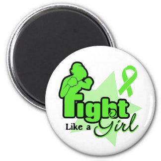 Lucha como un chica - enfermedad de Lyme Imán Redondo 5 Cm