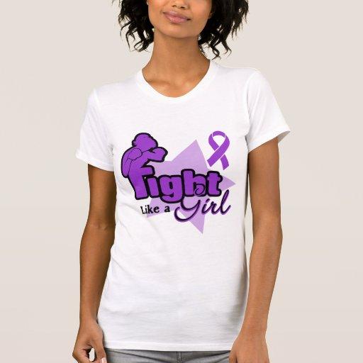 Lucha como un chica - fibrosis quística camisetas