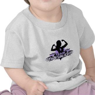 Lucha como un chica - general Cancer del equipo Camisetas