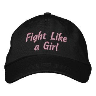 Lucha como un chica gorra bordada