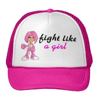 lucha como un chica gorras de camionero