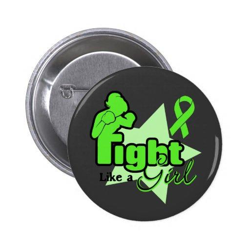 Lucha como un chica - linfoma Non-Hodgkin Pin