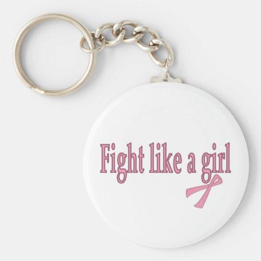 Lucha como un chica llavero personalizado