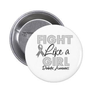 Lucha como un chica que deslumbra - diabetes pin