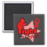 Lucha como un chica - SIDA Imanes Para Frigoríficos