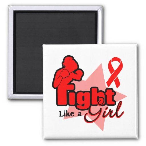 Lucha como un chica - SIDA Iman Para Frigorífico