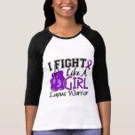Lucha como un lupus 15,2 del chica camiseta