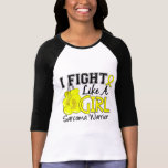 Lucha como un sarcoma 15,2 del chica camiseta