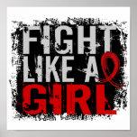 Lucha como un SIDA 31,8 del chica Posters