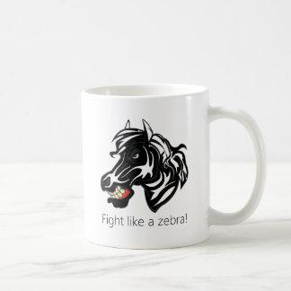Lucha como un Zebra.png Tazas
