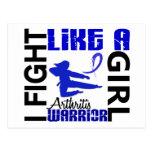 Lucha como una artritis 3,2 del chica postales