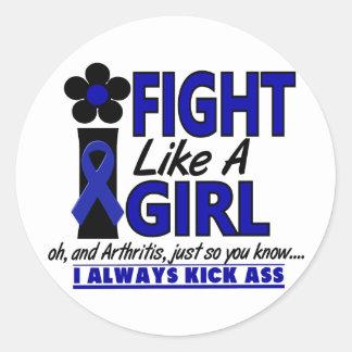 Lucha como una artritis del chica 1,2 pegatinas