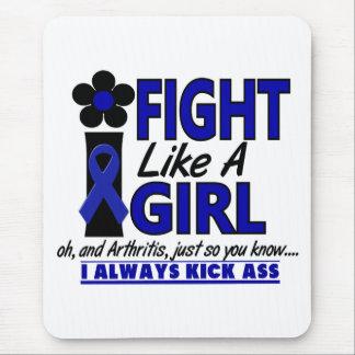Lucha como una artritis del chica 1,2 mouse pad