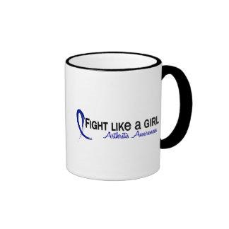 Lucha como una artritis del chica 6,3 tazas de café