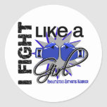 Lucha como una artritis reumatoide 13,2 del chica etiqueta redonda