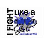Lucha como una artritis reumatoide 13,2 del chica tarjetas postales