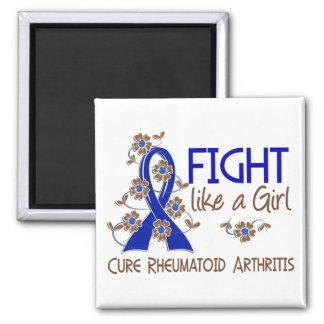 Lucha como una artritis reumatoide 38 82 del chica iman para frigorífico