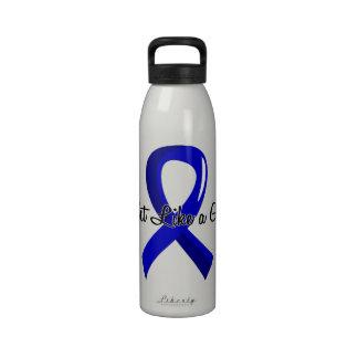 Lucha como una artritis reumatoide 41 8 del chica botella de agua reutilizable