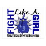 Lucha como una artritis reumatoide 8,3 del chica tarjetas postales