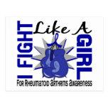 Lucha como una artritis reumatoide 8,5 del chica postal