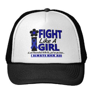 Lucha como una artritis reumatoide del chica 1,2 gorras de camionero