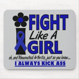 Lucha como una artritis reumatoide del chica 1,2 alfombrilla de ratón