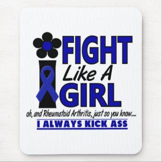 Lucha como una artritis reumatoide del chica 1,2 alfombrillas de raton