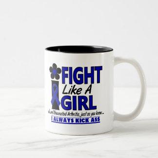 Lucha como una artritis reumatoide del chica 1 2 tazas de café