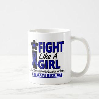 Lucha como una artritis reumatoide del chica 1,2 taza básica blanca