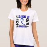Lucha como una artritis reumatoide del chica 3,3 camiseta