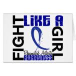 Lucha como una artritis reumatoide del chica 3,3 felicitacion