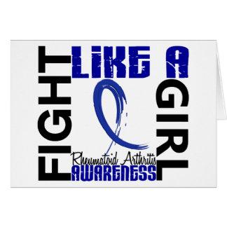 Lucha como una artritis reumatoide del chica 3,3 tarjeta de felicitación
