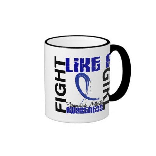 Lucha como una artritis reumatoide del chica 3,3 tazas de café