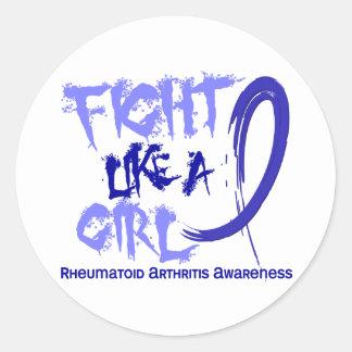 Lucha como una artritis reumatoide del chica 5,3 pegatinas
