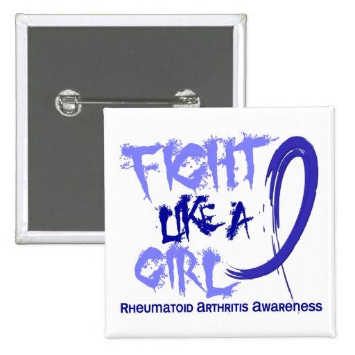 Lucha como una artritis reumatoide del chica 5,3 pin