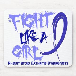 Lucha como una artritis reumatoide del chica 5 3 alfombrillas de raton