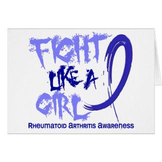 Lucha como una artritis reumatoide del chica 5,3 tarjeta de felicitación