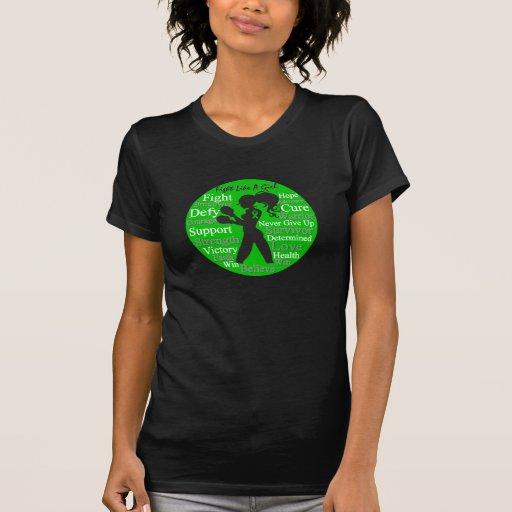Lucha como una conciencia de la silueta TBI del Camisetas