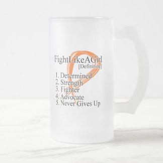 Lucha como una definición del chica - cáncer 2 del taza
