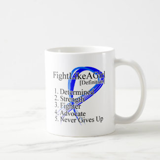 Lucha como una definición del chica - cáncer de co taza de café