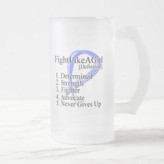 Lucha como una definición del chica - cáncer de es taza