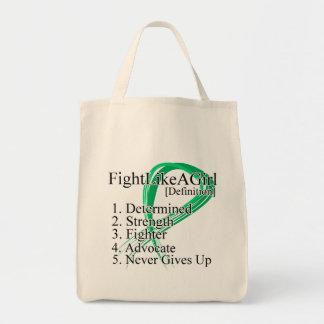 Lucha como una definición del chica - cáncer de hí bolsa tela para la compra